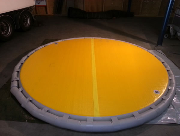Picture 13 Inflatable internal floating roofs iifr here in version of a yellow inner disc